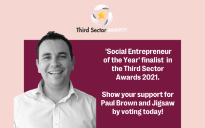 Paul Brown, Jigsaw co-founder and CEO, shortlisted for 'Social Entrepreneur of the Year' Award!